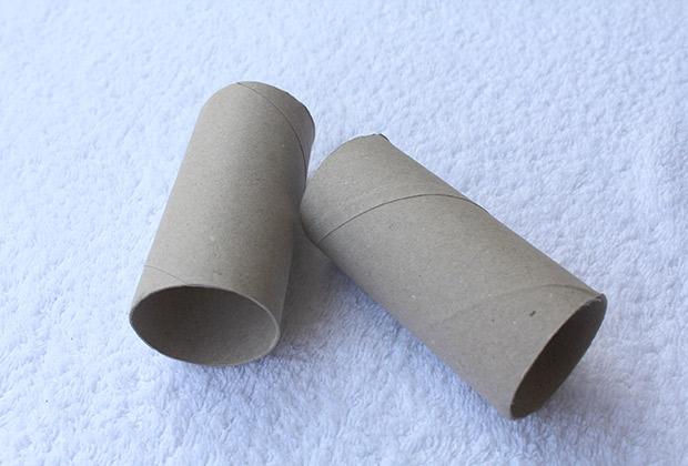 DIY Prismaticos tubos carton