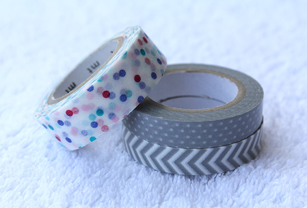 DIY Prismaticos cinta adhesiva