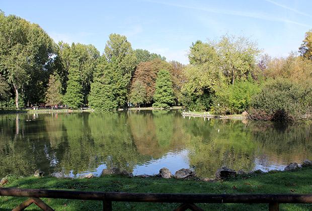 Mark de visita en el parque Isabel La Católica en Gijón