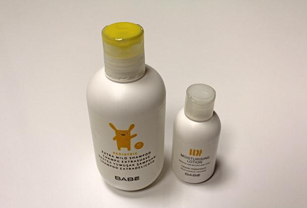 Productos para bañar a un bebé