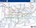 """Mapa paradas de metro de Londres con ascensor, versión """"El chupete de Mark"""""""