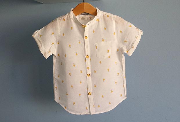 Outfit para bebés y niños: Piñas en verano! con el chupete de Mark