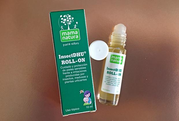 El chupete de Mark, sello de calidad madresfera e InsectDHU de mama natura. Cuidado y protección de pieles frente a irritaciones producidas por insectos, medusas y plantas urticantes.