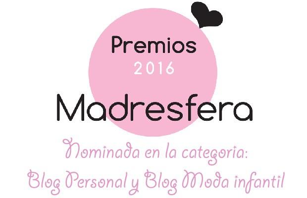 El Chupete de Mark está nominado en los Premios Madresfera en la categoría Blog Moda Infantil y Blog Personal.