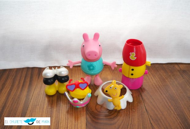 El chupete de Mark, Peppa Pig y Bandai.